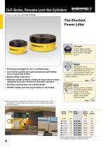 CLP-Series, Pancake Lock Nut Cylinders