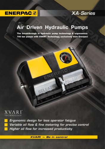 Enerpac XA Series Air Driven Hydraulic Pumps