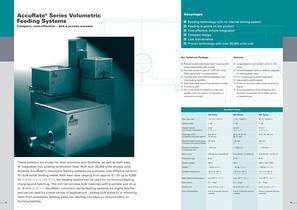 AccuRate&reg; Series Volumetric Feeding Systems