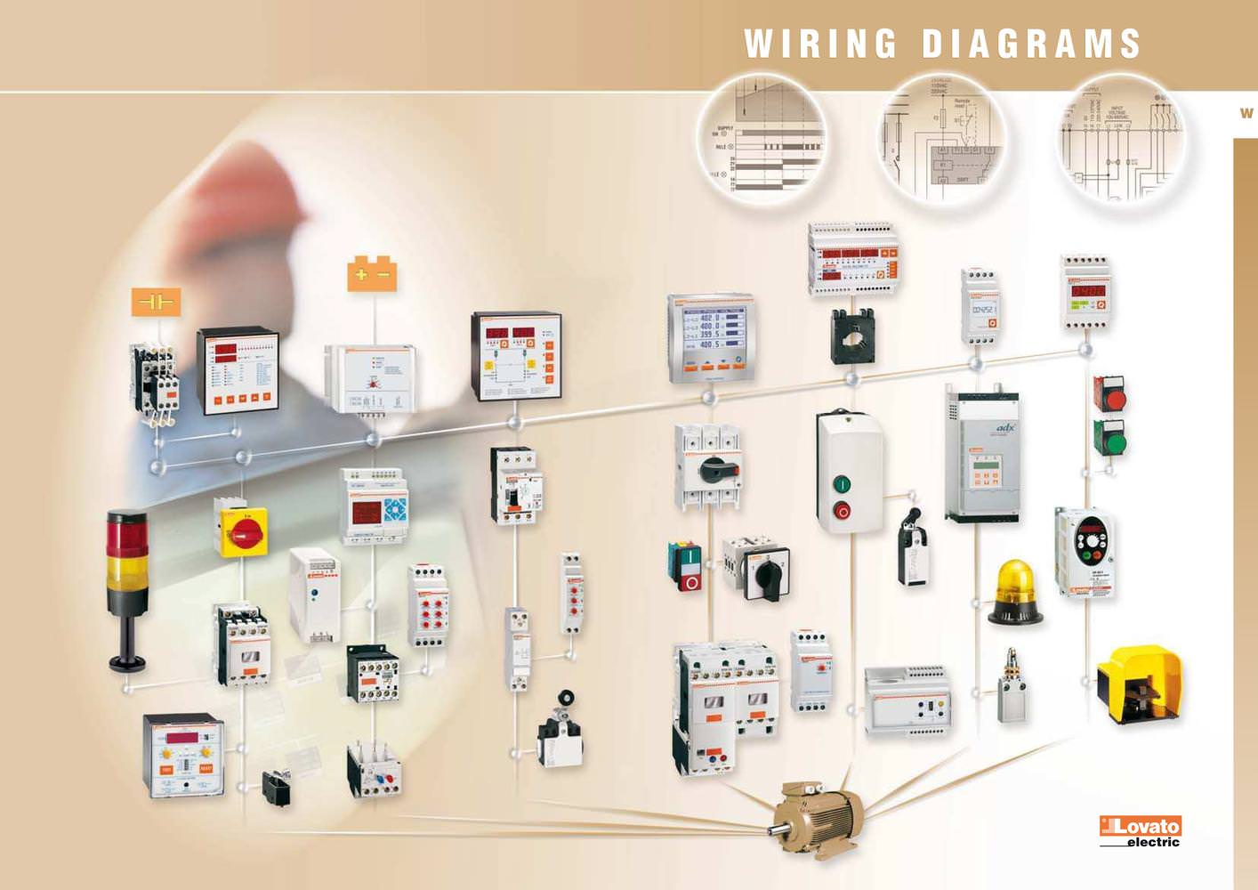 Wiring Diagrams Lovato Electric Pdf Catalogue Technical 3 Wire Phase To 220v Diagram Delta 1 39 Pages
