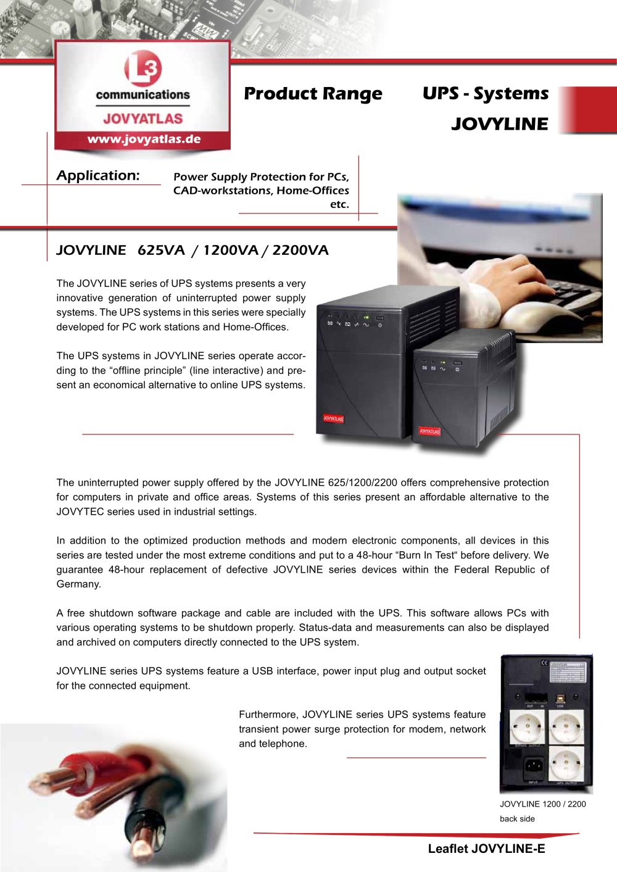 JOVYLINE - JOVYATLAS Elektrische Umformtechnik GmbH - PDF Catalogue ...