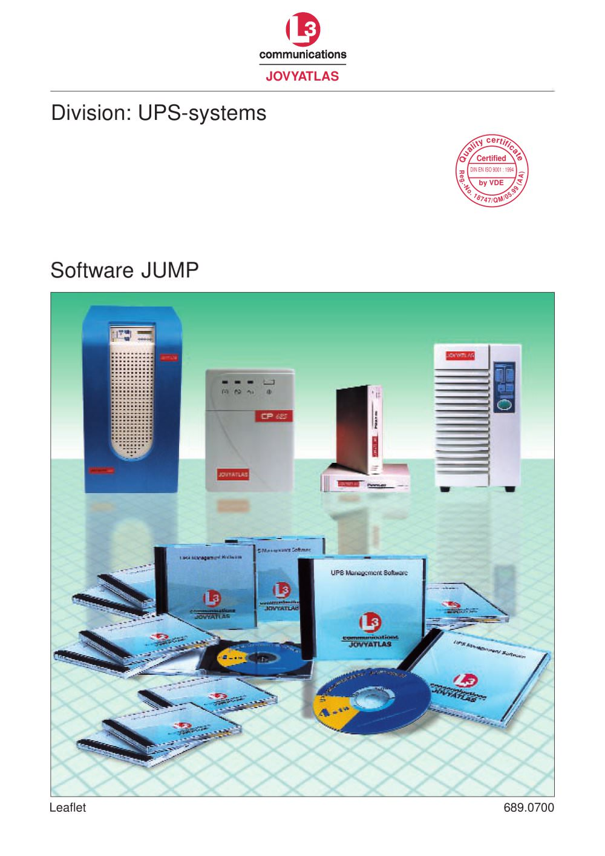 UPS-Software JUMP - JOVYATLAS Elektrische Umformtechnik GmbH - PDF ...