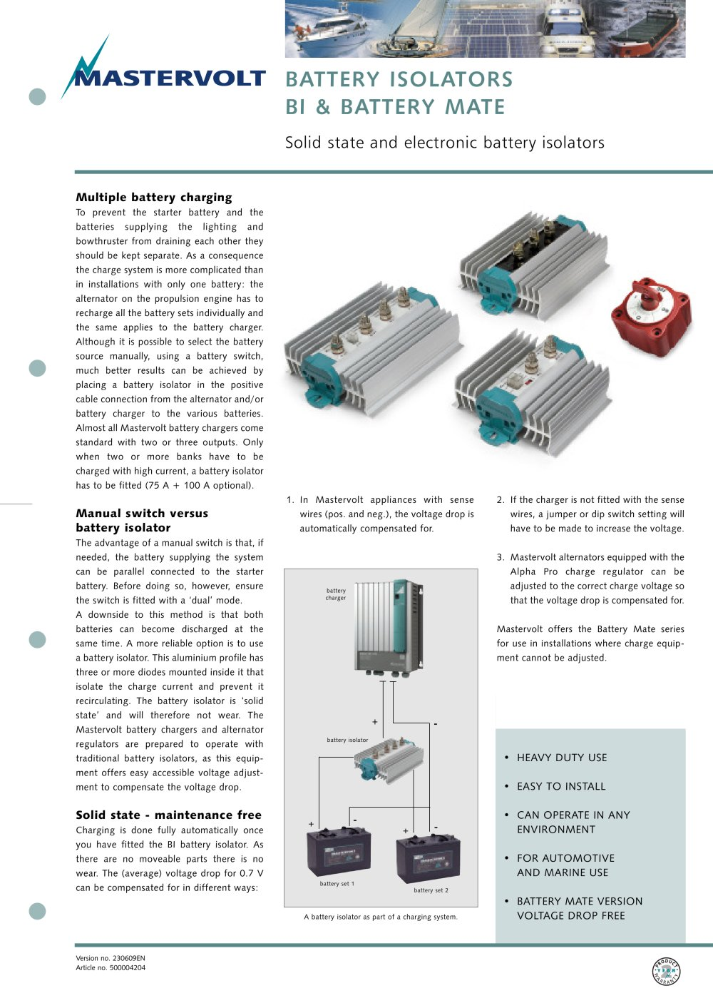 BI Battery Isolators - 1 / 2 Pages