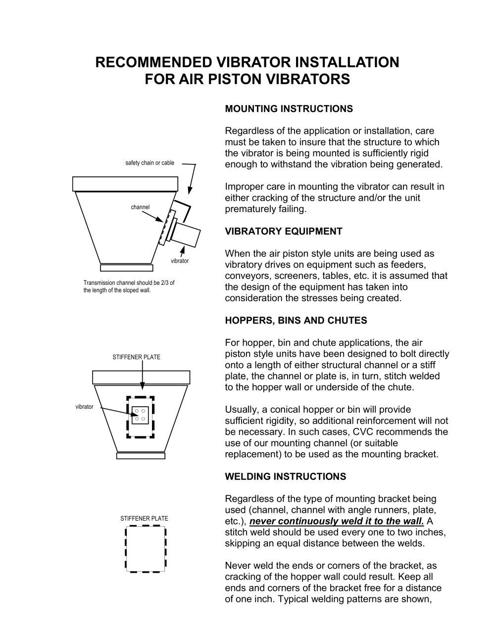 mount vibrator Rigid