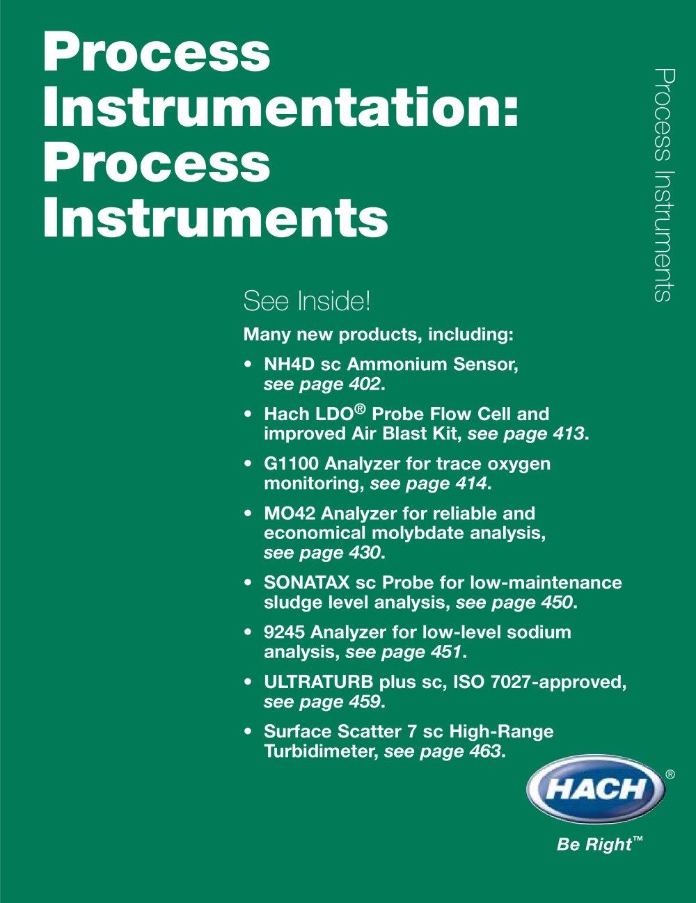 Process 1 Hach Pdf Catalogue Technical Documentation Brochure