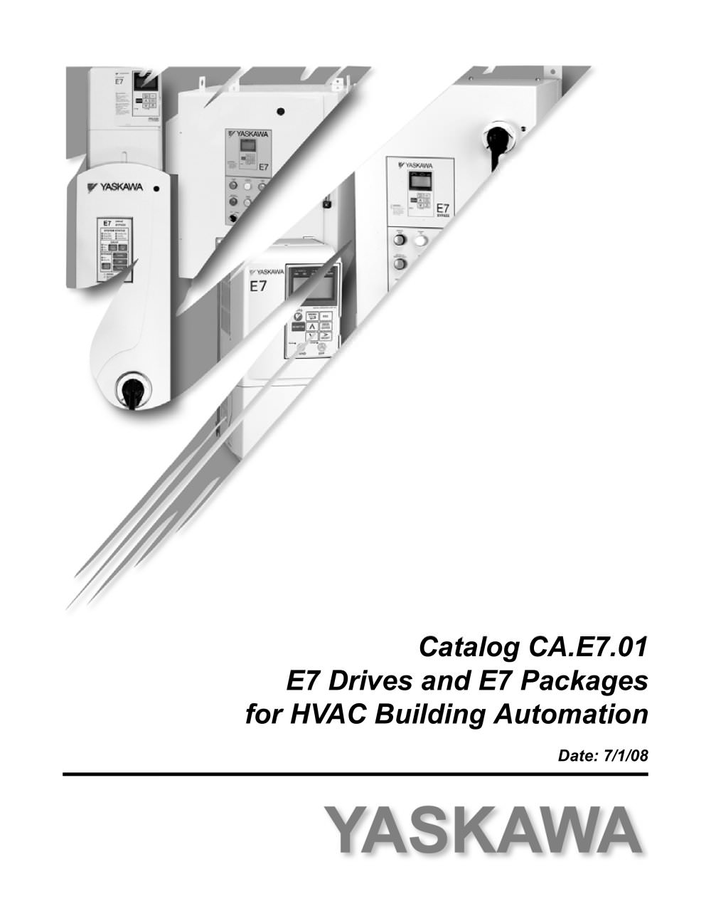 Catalog For E7 Drives And Packages Hvac Building Automation Yaskawa A1000 Wiring Diagram 1 120 Pages