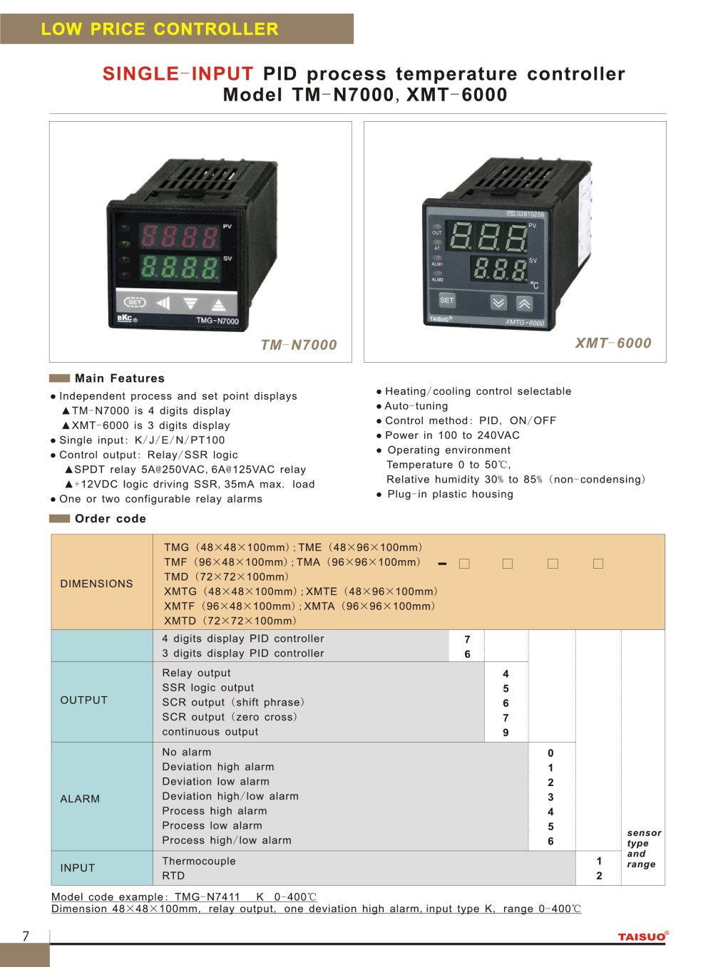 Taisuo Single Input Pid Process Temperature Controller Model Tm Complete Package Thermocouple Probe Ssr N7000xmt 6000 For Industry 1 Pages