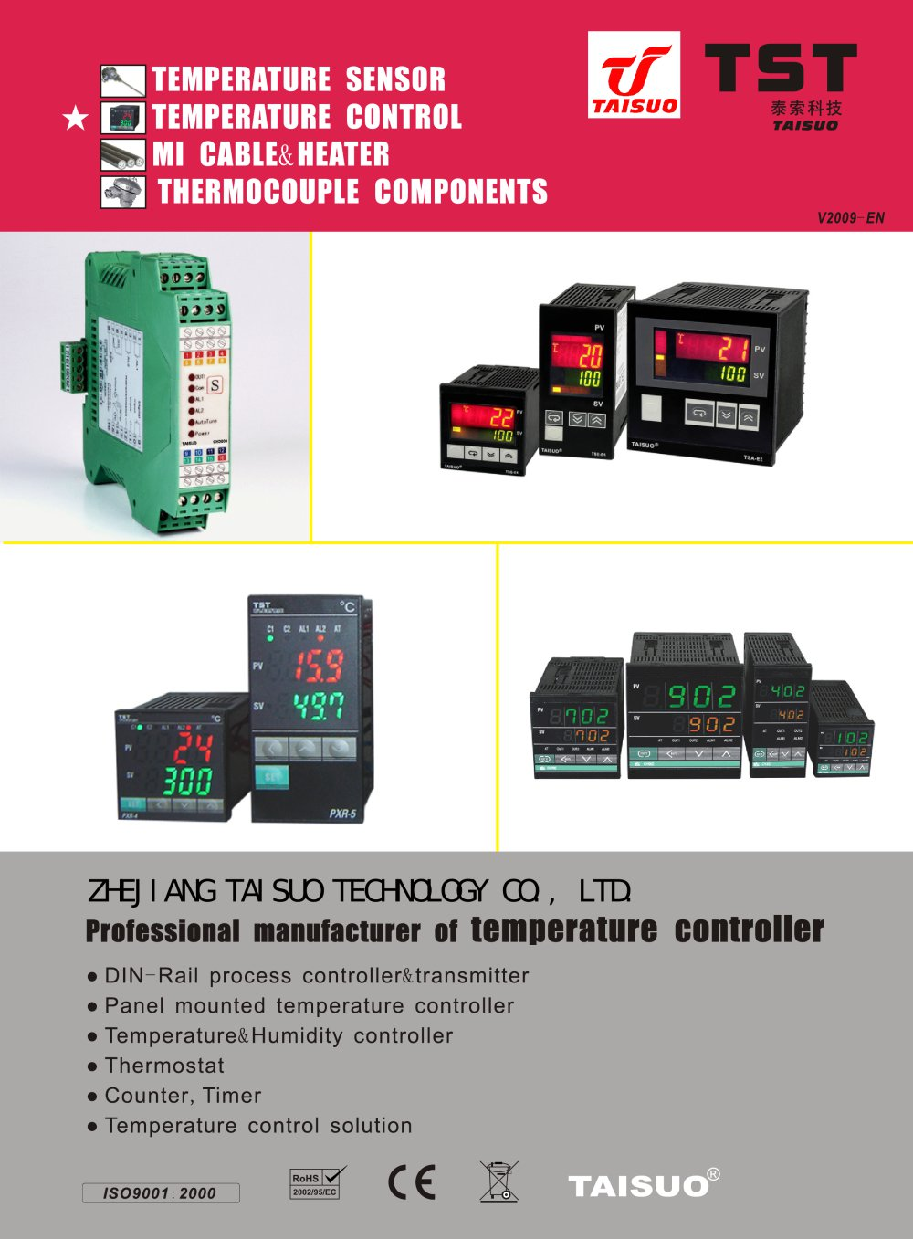 Taisuo Temperature Controller For Industry Ce Rose Certificated Complete Package Pid Thermocouple Probe Ssr 1 12 Pages