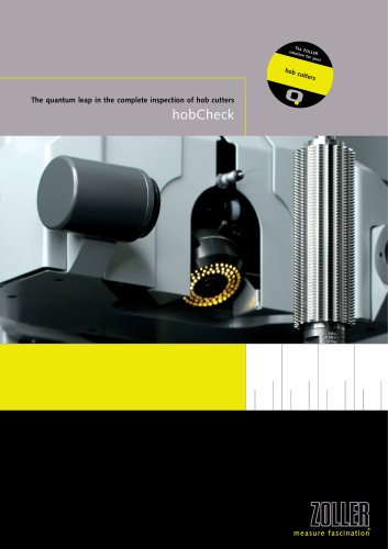 The universal measuring machine for fully-automatic measuring and inspection of cylindrical hob cutters »hobCheck«