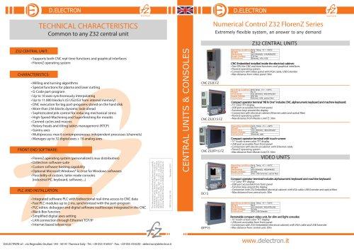 Z32 CNC FlorenZ Series - Central units - consoles