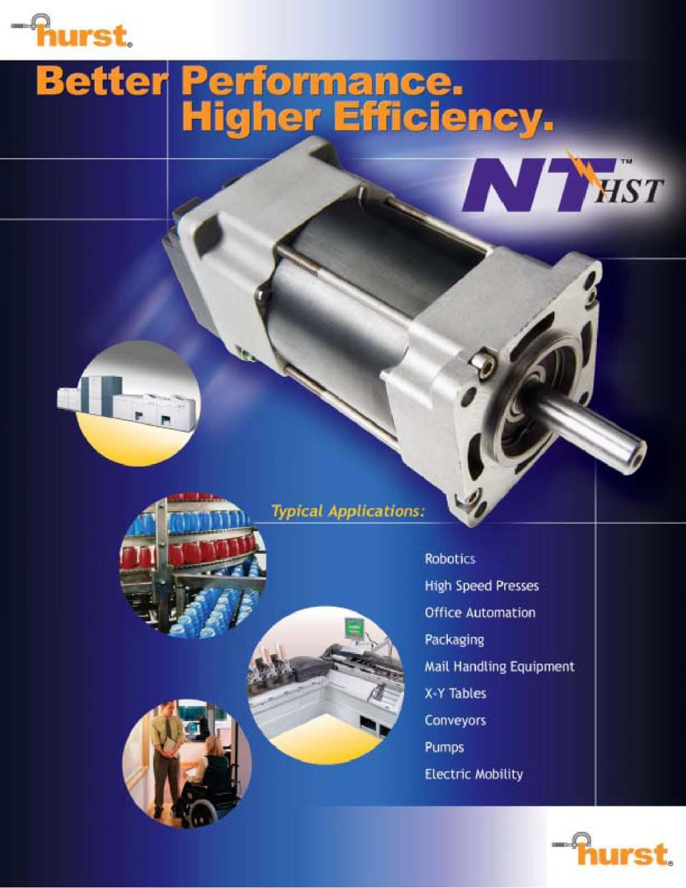 Hst23 12 48 Vdc Brushless Dc Motor Catalog Hurst Pdf Catalogue Pole Winding Diagram Wiring 1 6 Pages