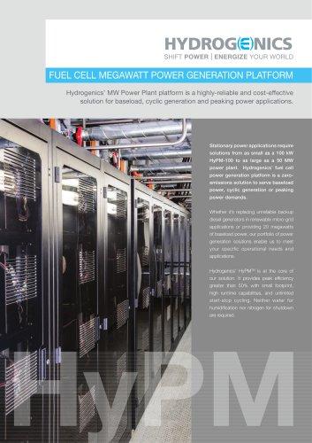FUEL CELL MEGAWATT POWER GENERATION PLATFORM - Hydrogen
