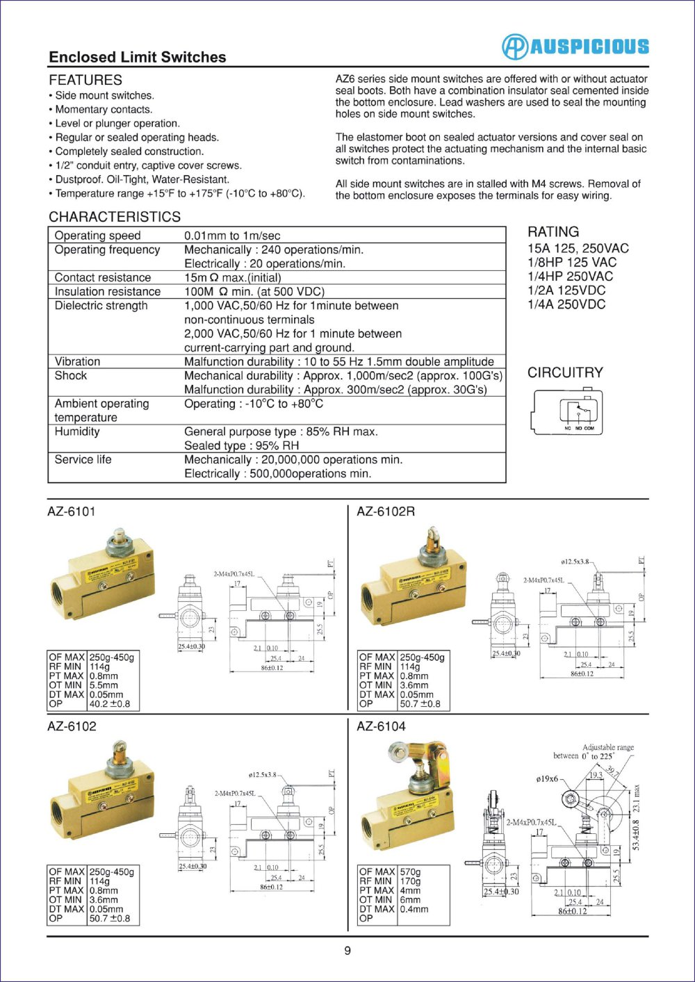 Enclosed Limit Switches - 1 / 1 Pages