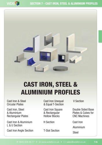 WDS Cast Iron, Steel, Aluminium Profiles - WDS Component Parts - PDF