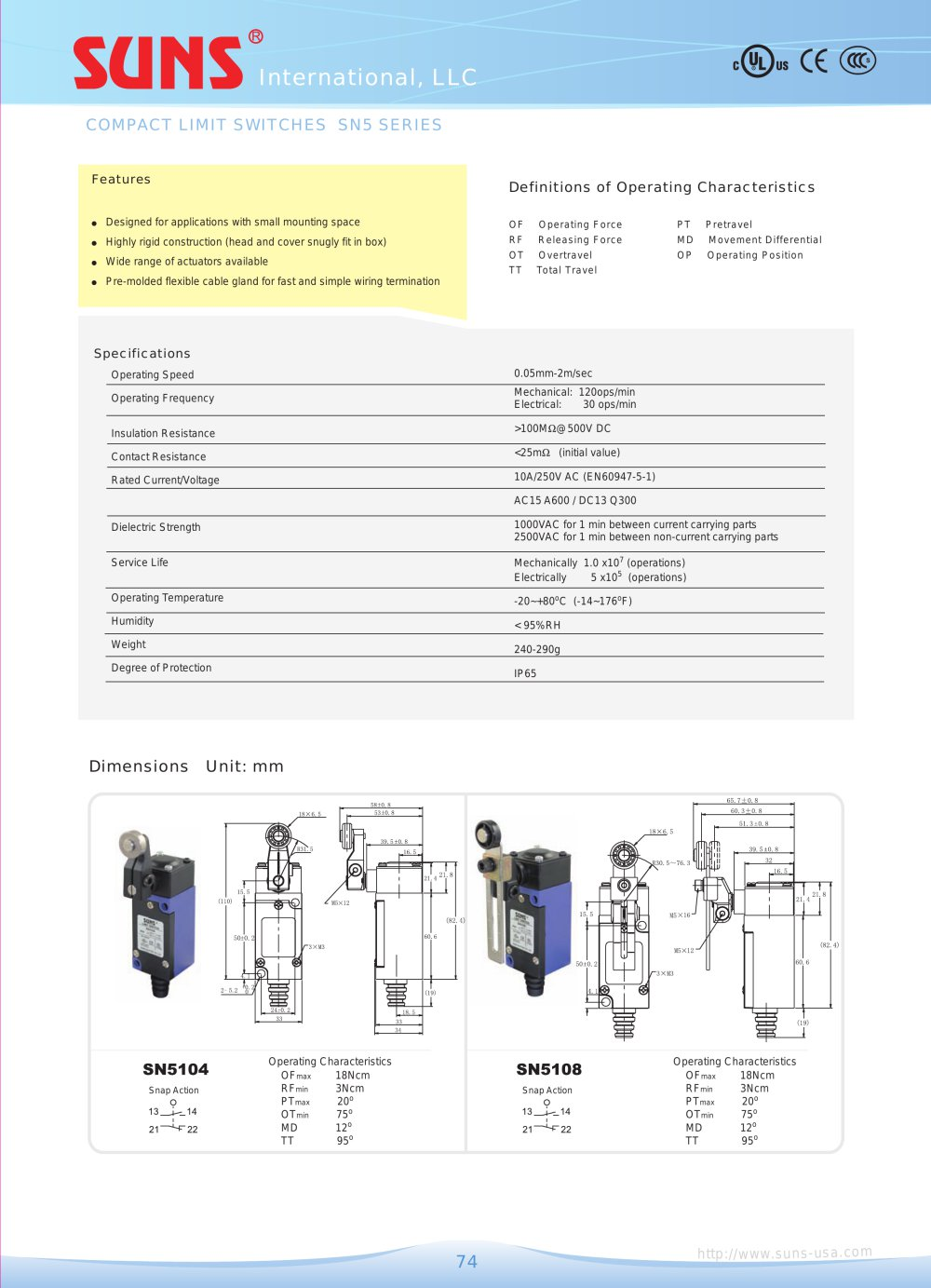 Sn5 Compact Limit Switches Suns Pdf Catalogue Technical Pb30 Wiring Diagram 1 2 Pages