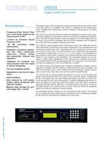 LRS-03  Sound level limiter-recorder