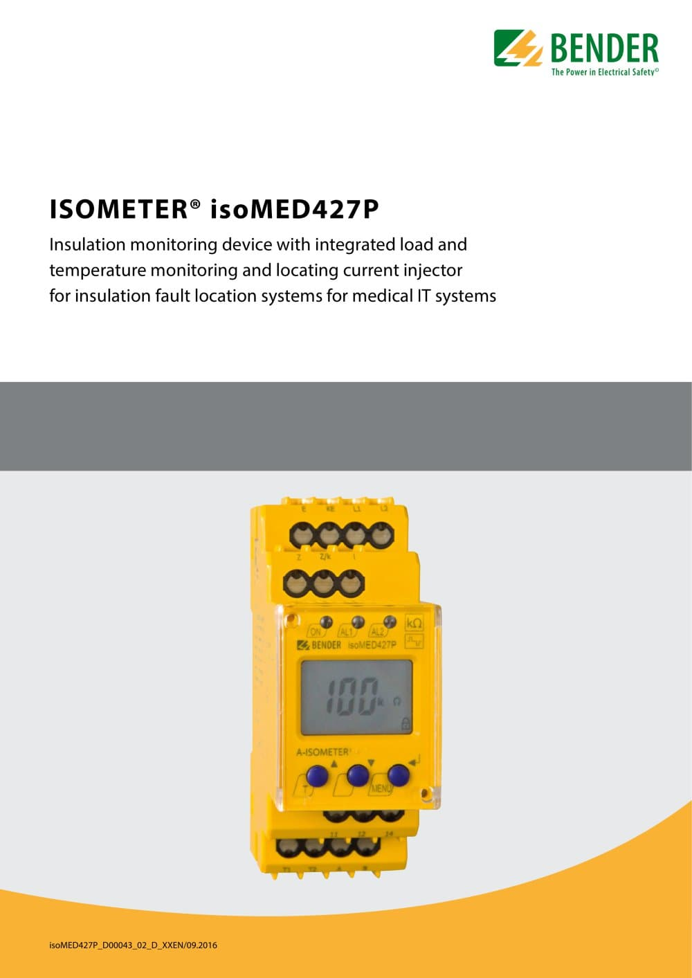 Isometer Isomed427p Bender Pdf Catalogue Technical Mk Wiring Devices 2016 1 6 Pages