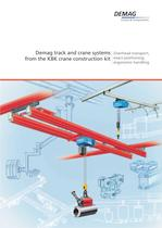 Demag track and crane systems from the KBK construction kit - Overhead transport, exact positioning, ergonomic handling