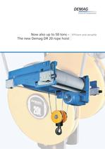 Now also up to 50 tons - The new Demag DR 20 rope hoist