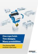 The new Demag DR rope hoist - Compact and fast
