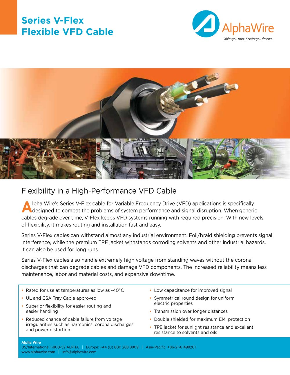 Alpha Wire Industrial Series V-Flex - Alpha Wire - PDF Catalogue ...