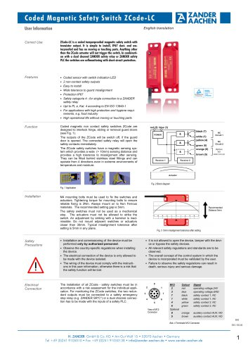 Coded Non Contact Saftey Switch ZCODE-LC