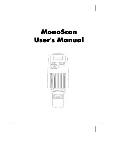 MonoScan User Manual