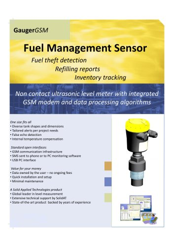 Remote Fuel Monitoring with GaugerGSM