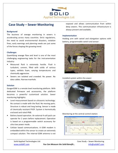 Sewer monitoring system