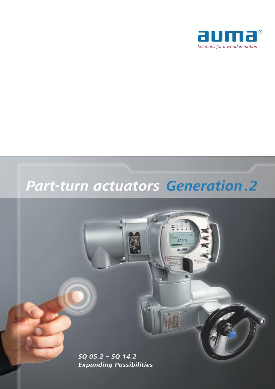 Part Turn Actuators Generation 2 Auma Pdf Catalogue Technical Wiring Diagram 1 6 Pages