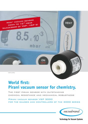 Pirani vacuum sensor for chemistry