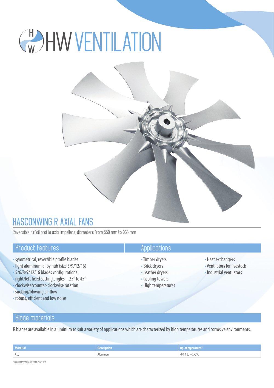datasheet - hw r reversible profile axial fan - english - hw