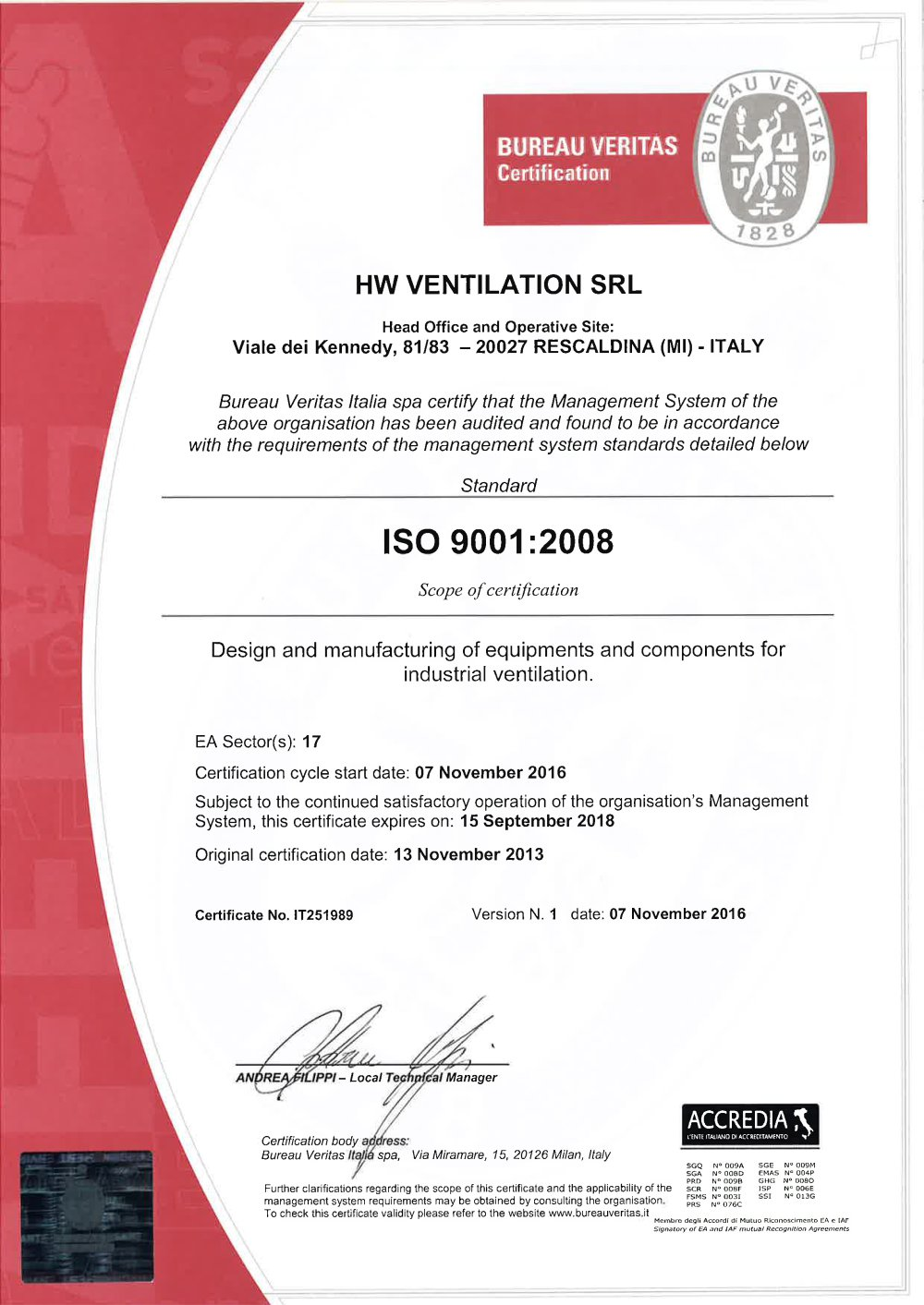 Iso9001 certification hw ventilation pdf catalogue technical iso9001 certification 1 1 pages 1betcityfo Choice Image