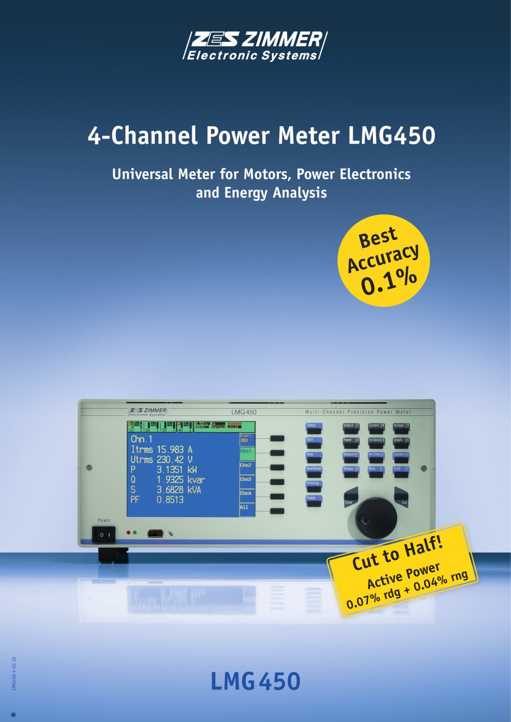 4 Channel Power Meter Lmg450 Zes Zimmer Electronic Systems Pdf Q 1 8 Pages