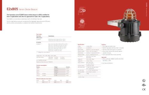E2xB05 Xenon Strobe Beacon