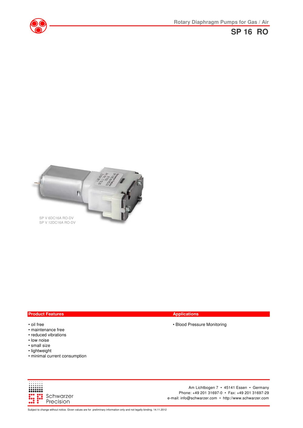 16a ro dv rotary diaphragm pumps schwarzer precision pdf 16a ro dv rotary diaphragm pumps 1 4 pages ccuart Image collections