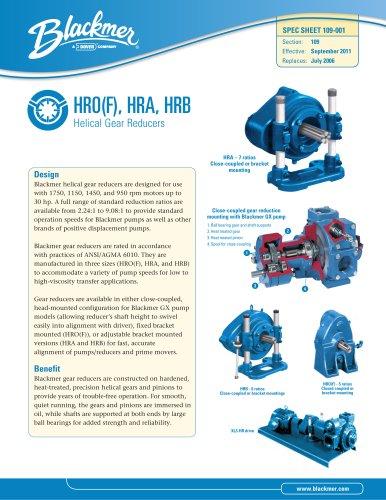 HRO(F), HRA, HRB Helical Gear Reducers