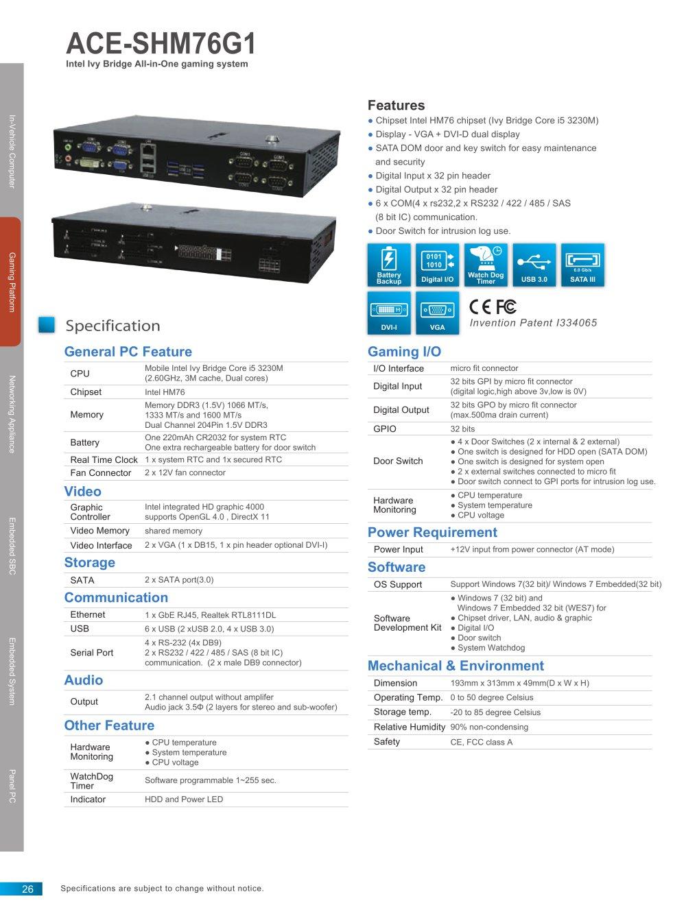 Ace Shm76g1 Acrosser Technology Co Ltd Pdf Catalogue Socket Ic 8 Pin Or 2x4 1 2 Pages