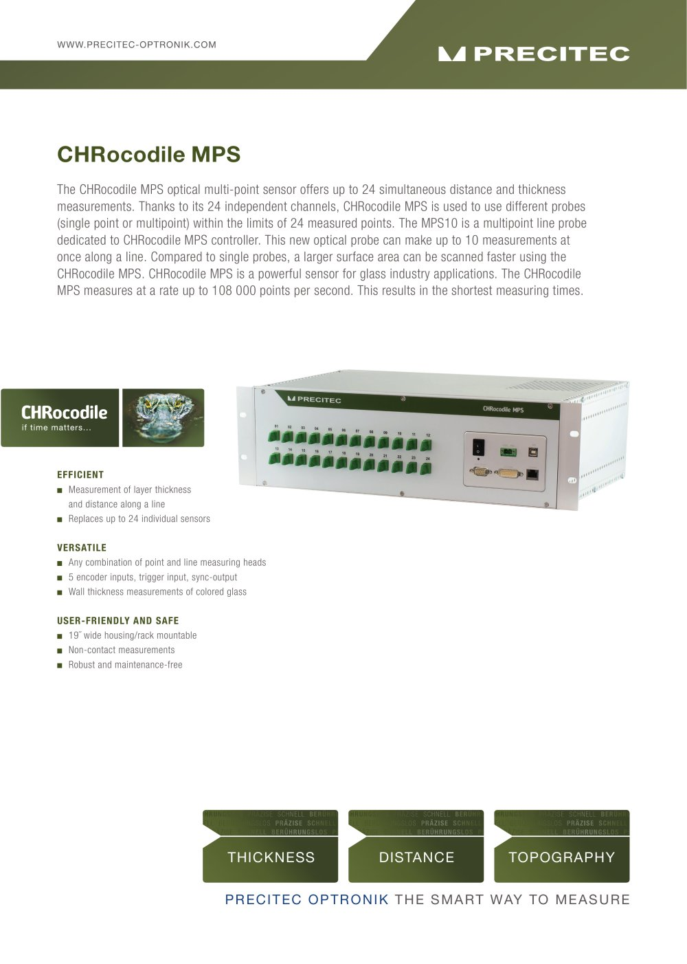 CHRocodile MPS Optical Multi Point Sensor