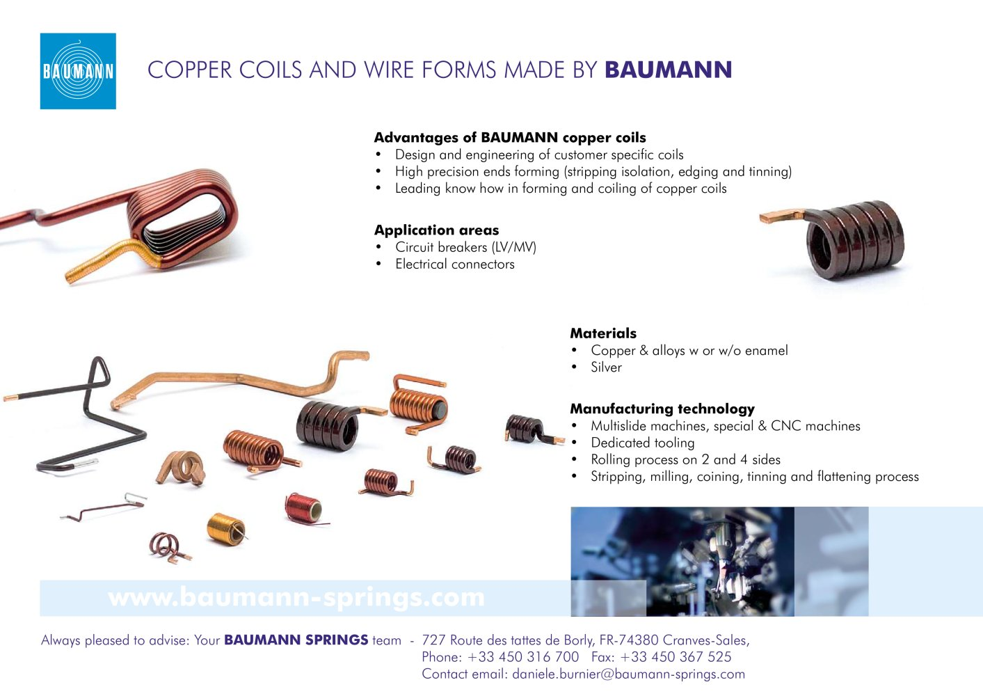 Flyer Copper Coils - BAUMANN SPRINGS LTD. - PDF Catalogue ...