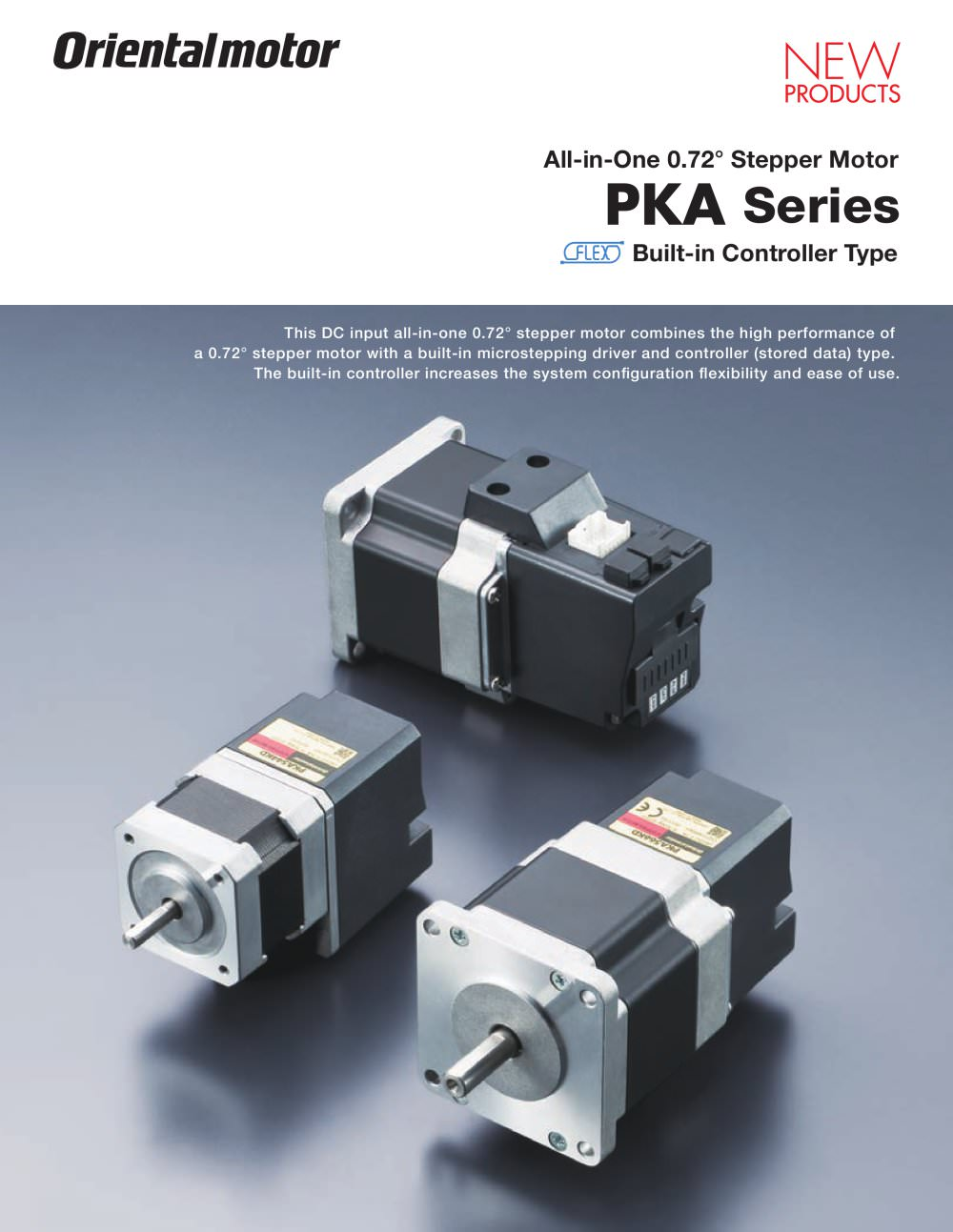 0.72° All-in-One Stepper Motor, PKA Series* - 1 / 12 Pages