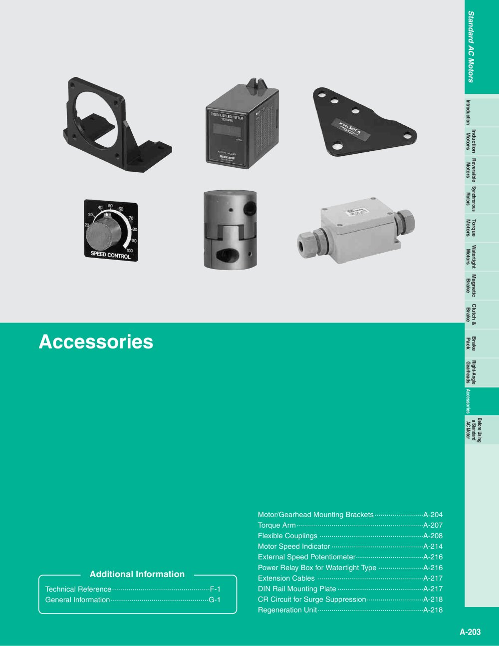 AC Motor Accessories - ORIENTAL MOTOR - PDF Catalogue | Technical ...