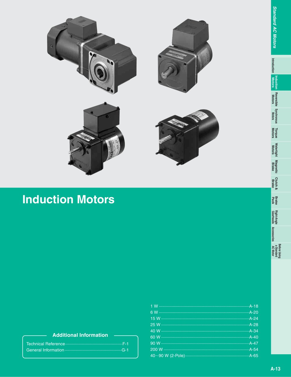Induction Motors - ORIENTAL MOTOR - PDF Catalogue | Technical ...