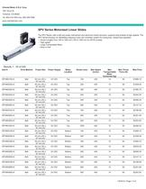 SPV Series Motorized Linear Slides