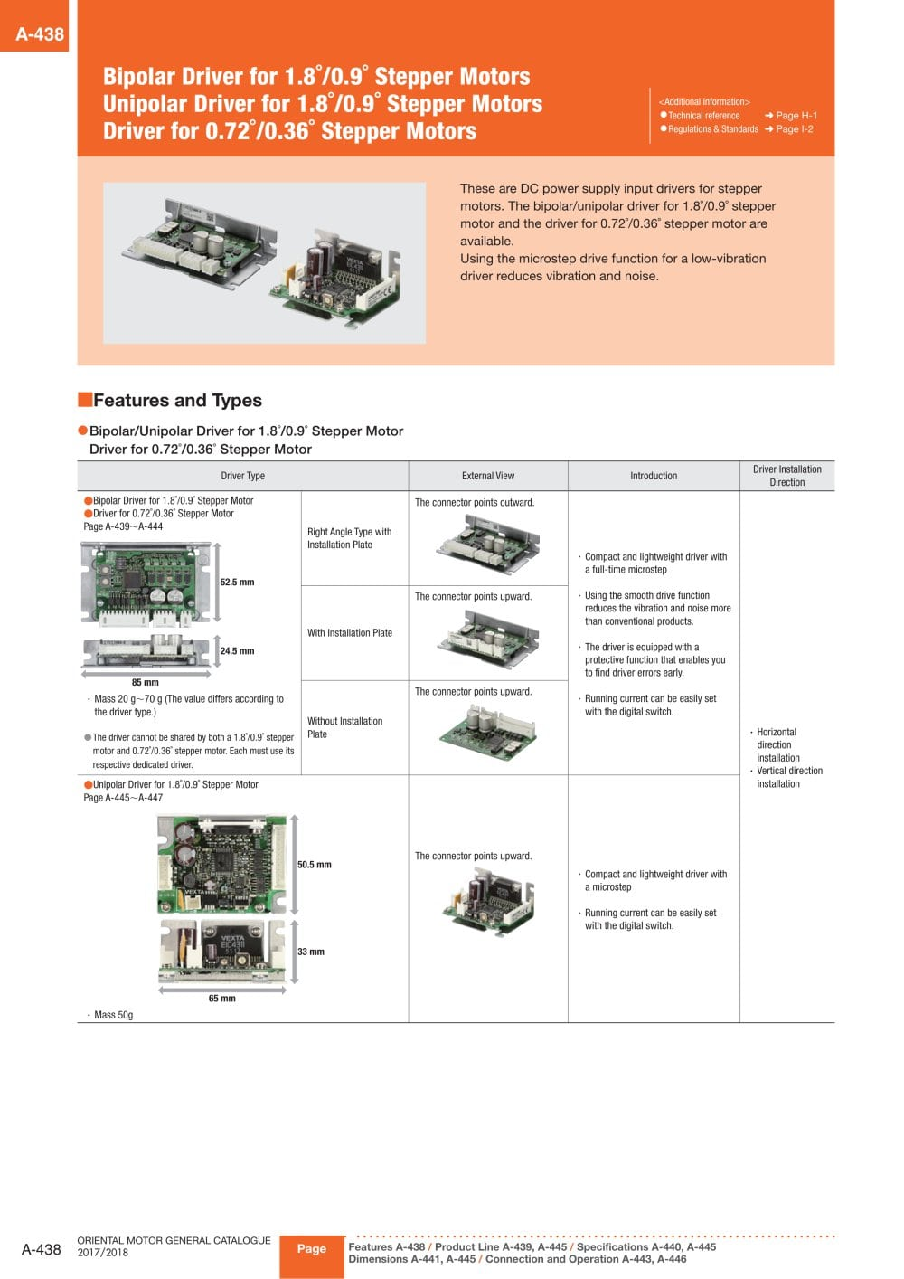 Stepper Motor Drivers Oriental Pdf Catalogue Technical Wiring Diagram 1 10 Pages