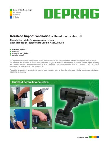 Cordless Impact Wrenches With Automatic Shut Off