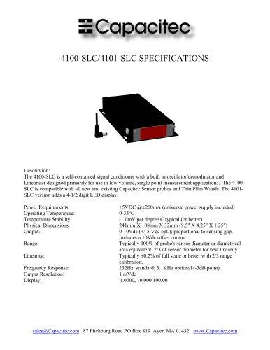 Capacitec 4100-SLC/4101-SLC Signal Conditioner Specifications