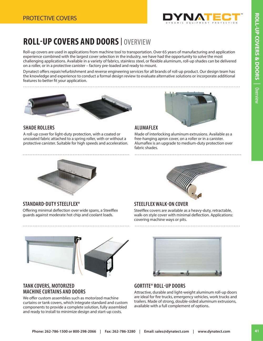 Roll Up Covers \u0026 Doors Catalog Section - 1 / 20 Pages  sc 1 st  Catalogues Directindustry & Roll Up Covers \u0026 Doors Catalog Section - Dynatect Manufacturing ...