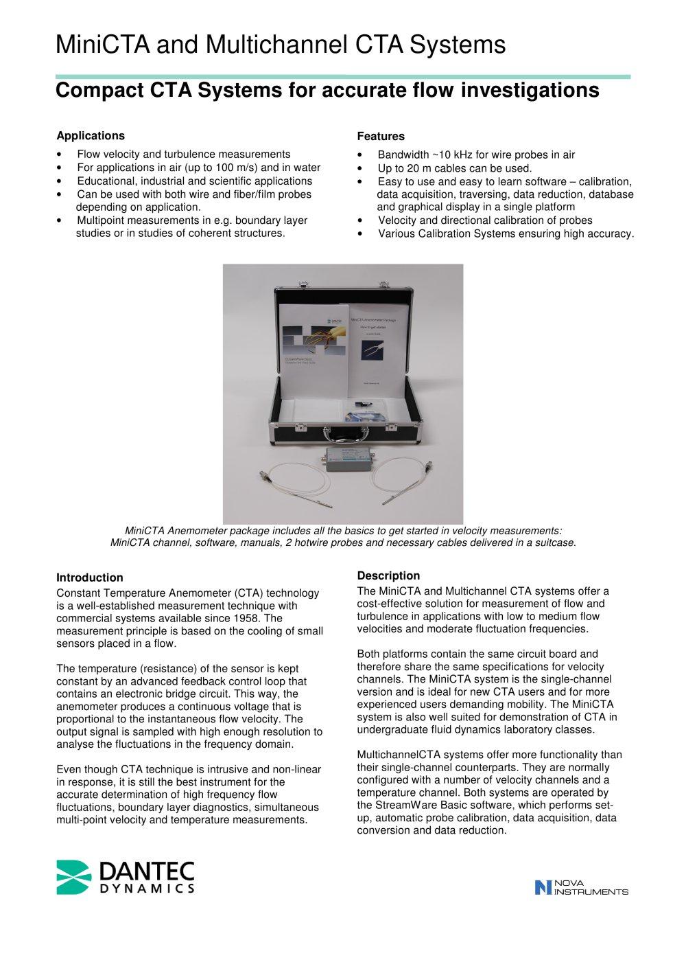 MiniCTA / Multichannel CTA Anemometer System - Dantec Dynamics A/S ...