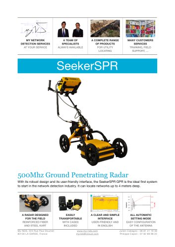 SeekerSPR 500 MHz ground penetrating radar - My-NDS - PDF Catalogs